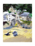 Mousehole, Cornwall, 2005 Giclee Print by Sophia Elliot