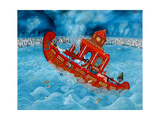 Noah's Barge, 1987 Giclee Print by Tamas Galambos