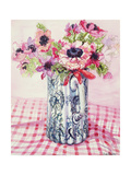 Anemones in a Victorian Flowered Jug Giclee Print by Joan Thewsey