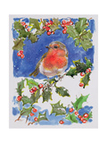 Christmas Robin, 1996 Giclee Print by Diane Matthes