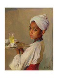A Nubian Serving Boy, 1929 Giclee Print by Philip Alexius De Laszlo
