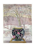 Large Ginger Jar in Snowstorm Giclee Print by Lillian Delevoryas