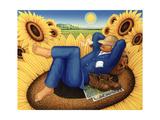 Van Gogh's Sunflowers, 1998 Giclee Print by Frances Broomfield