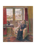 In the Armchair by the Window Giclee Print by Joyce Haddon
