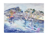 Fishing Harbour, Newlyn, Cornwall, 2005 Giclee Print by Sophia Elliot