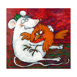 Mouse and Robin Giclee Print by Maylee Christie