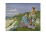 David and Dorelia in Normandy, 1908 Giclee Print by Augustus Edwin John