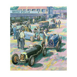 Brooklands Heyday Giclee Print by Clive Metcalfe