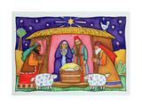Nativity Scene Giclee Print by Cathy Baxter