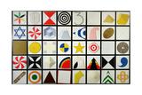 Casellario 40 Elementi, 1974 Giclee Print by Lucio Del Pezzo