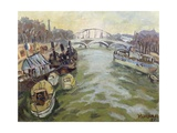 The Seine at Paris, 1951 Giclee Print by Glyn Morgan