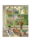 Autumn Fruit and Flowers, 2001 Lámina giclée por Timothy Easton