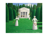 Edwardian Ladies Playing Tennis, 1978 Giclee Print by Larry Smart
