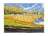 Harvest, St. Germain, Quebec Giclee Print by Patricia Eyre
