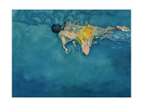 Swimmer in Yellow, 1990 Giclee Print by Gareth Lloyd Ball