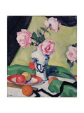 Still Life with Japanese Jar and Roses, C.1919 Giclee Print by Samuel John Peploe