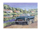 Mgb by a French Canal Giclee Print by Clive Metcalfe