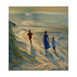 Beach Walk, 1994 Giclee Print by Timothy Easton
