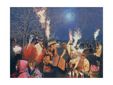 Wassailing in Herefordshire, 1995 Giclee Print by Huw S. Parsons