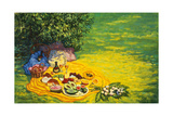 Golden Picnic, 1986 Giclee Print by Ted Blackall