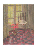 Interior with Geranium Giclee Print by Joyce Haddon