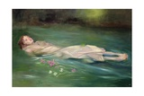 Girl Drifting, 2004 Giclee Print by Lucinda Arundell