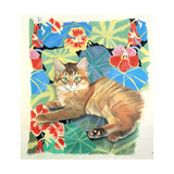 Sootsy and Dufy Fabric Giclee Print by Anne Robinson