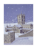 St. David's Cathedral in the Snow, 1996 Giclee Print by Huw S. Parsons