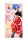 Dancer with Graffiti, 2003 Giclee Print by Hilary Dunne