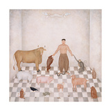 Adam Naming the Animals, 1993 Giclee Print by Mary Stuart