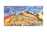 Sun, Fields, Cows: Somerset, 1998 Giclee Print by Robert Hobhouse