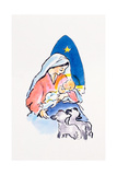 Madonna and Child with Lambs, 1996 Giclee Print by Diane Matthes