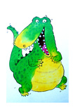 Happy Crocodile Giclee Print by Maylee Christie