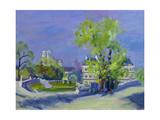 Jardins De Luxembourg Giclee Print by Anne Durham