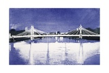 Albert Bridge (After Painting) Giclee Print by Isabel Hutchison