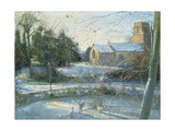 The Frozen Moat, Bedfield Giclee Print by Timothy Easton