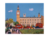 Big Ben and Parliament Square Giclee Print by William Cooper