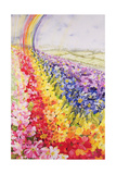 Primrose Rainbow Giclee Print by Joan Thewsey