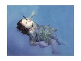 Girl Floating, 2004 Giclee Print by Lucinda Arundell