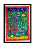 Fishy Christmas, 1997 Giclee Print by Cathy Baxter