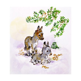 Donkeys Giclee Print by Diane Matthes