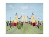 Hammersmith Bridge, 1981 Giclee Print by Mark Baring