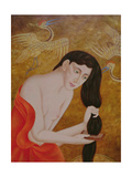 Woman Combing Her Hair, 1999 Giclee Print by Patricia O'Brien