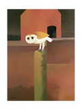 The Barn Owl, 1989 Giclee Print by Reg Cartwright