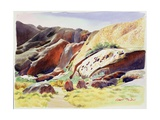 Aspects of Uluru (Ayers Rock), Australia Giclee Print by Robert Tyndall