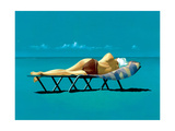 Sunbather Impression giclée par Simon Cook