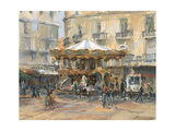 Little Carousel, Montpellier Giclee Print by Pat Maclaurin