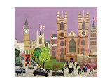 The Five Towers of Westminster Giclee Print by William Cooper