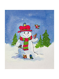 The Snowman Giclee Print by Diane Matthes