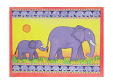 Elephants Giclee Print by Cathy Baxter